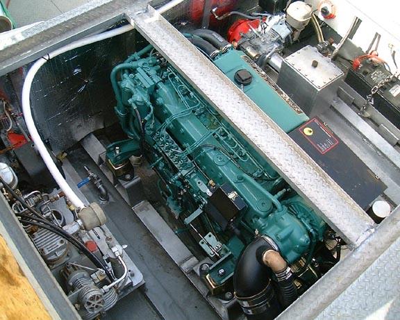 Boat Engine Room Volvo Tamd 63p